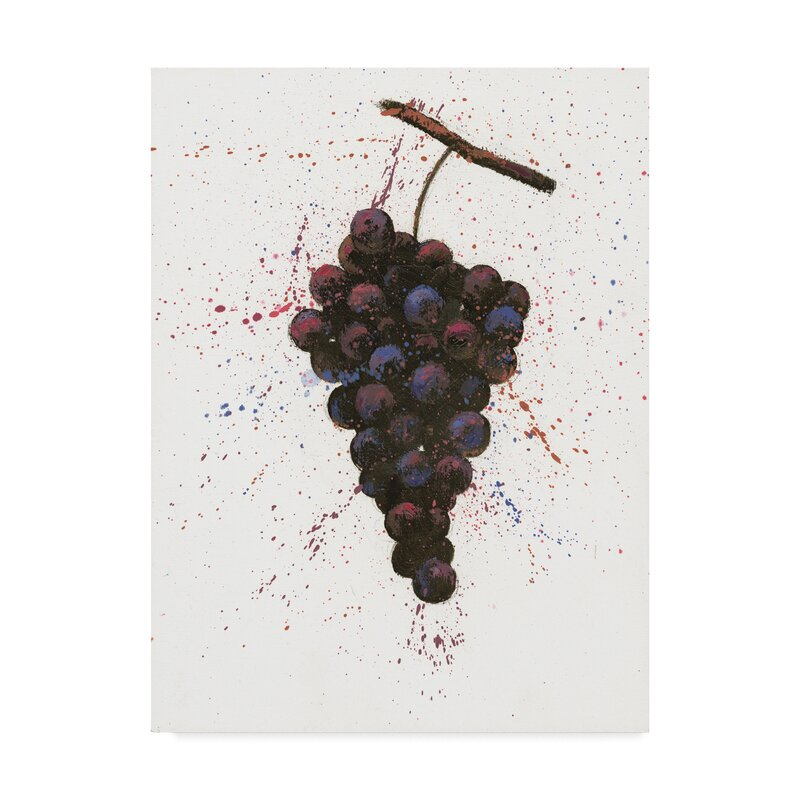 b4f484367b 'Wine Splash Grapes Purple' Acrylic Painting Print on Wrapped Canvas