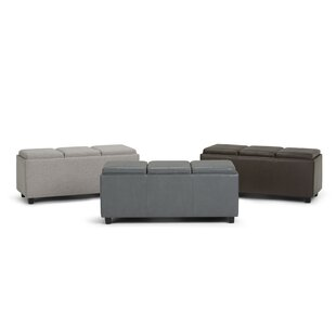 Agnon Faux Leather Storage Bench