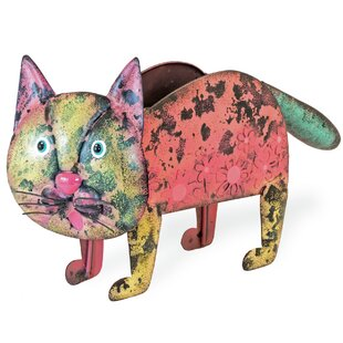 Wallasey The Cat Iron Pot Planter By Red Barrel Studio
