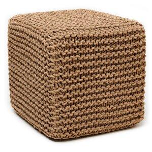 Laflin Corded Jute Cube Pouf Ottoman by Alco..