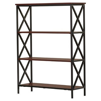 Abbottsmoor Etagere Bookcase Color: Cherry by Andover Mills