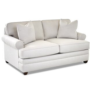 Living Your Way Rolled Arm Loveseat By Klaussner Furniture