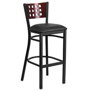 Chafin Cutout Back Metal 32 Bar Stool by Winston Porter