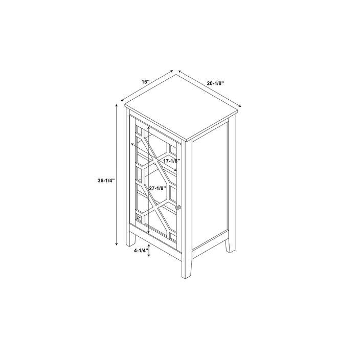Zauber Small 1 Door Accent Cabinet