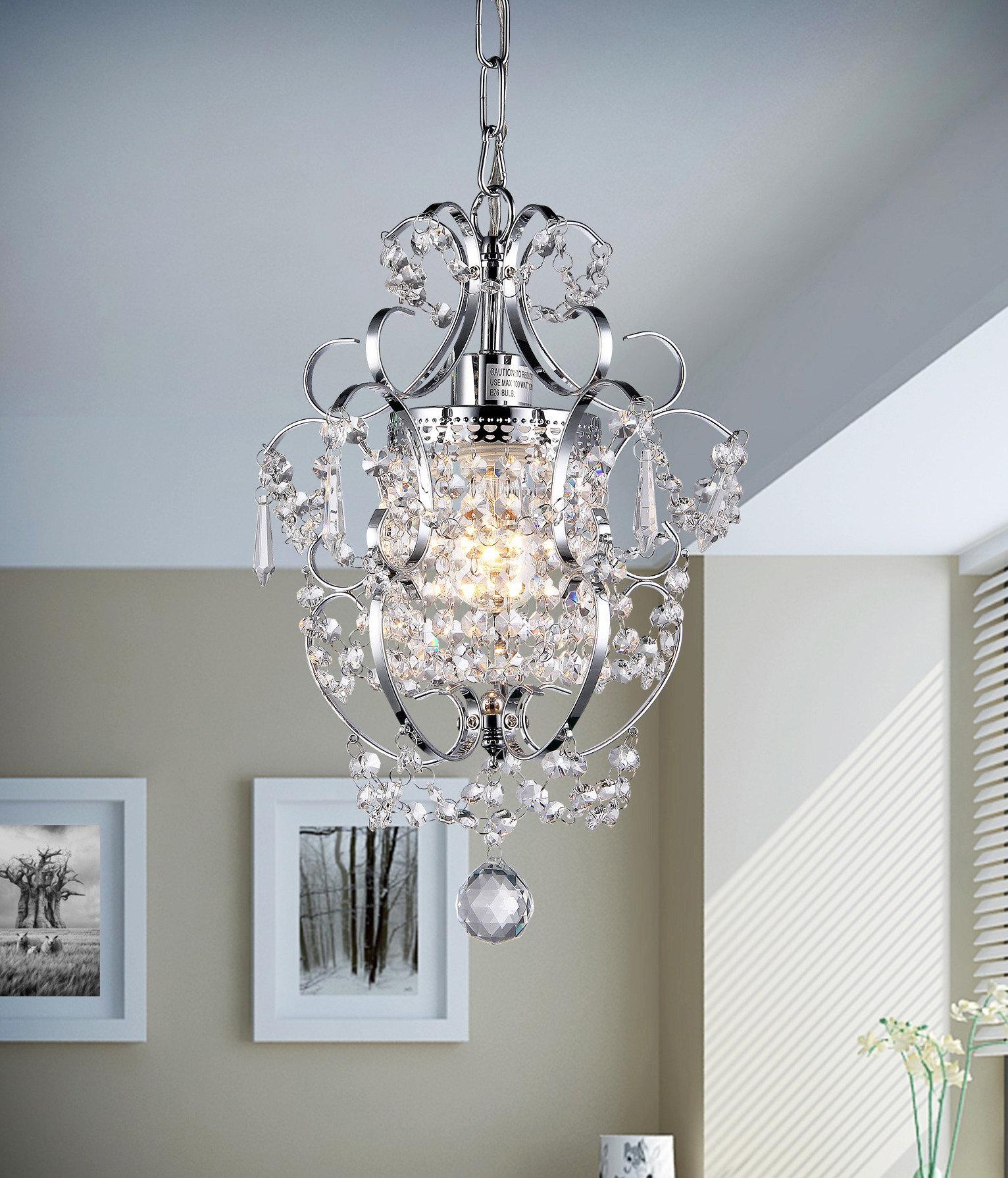 Willa Arlo Interiors Gates 1 Light Crystal Pendant & Reviews