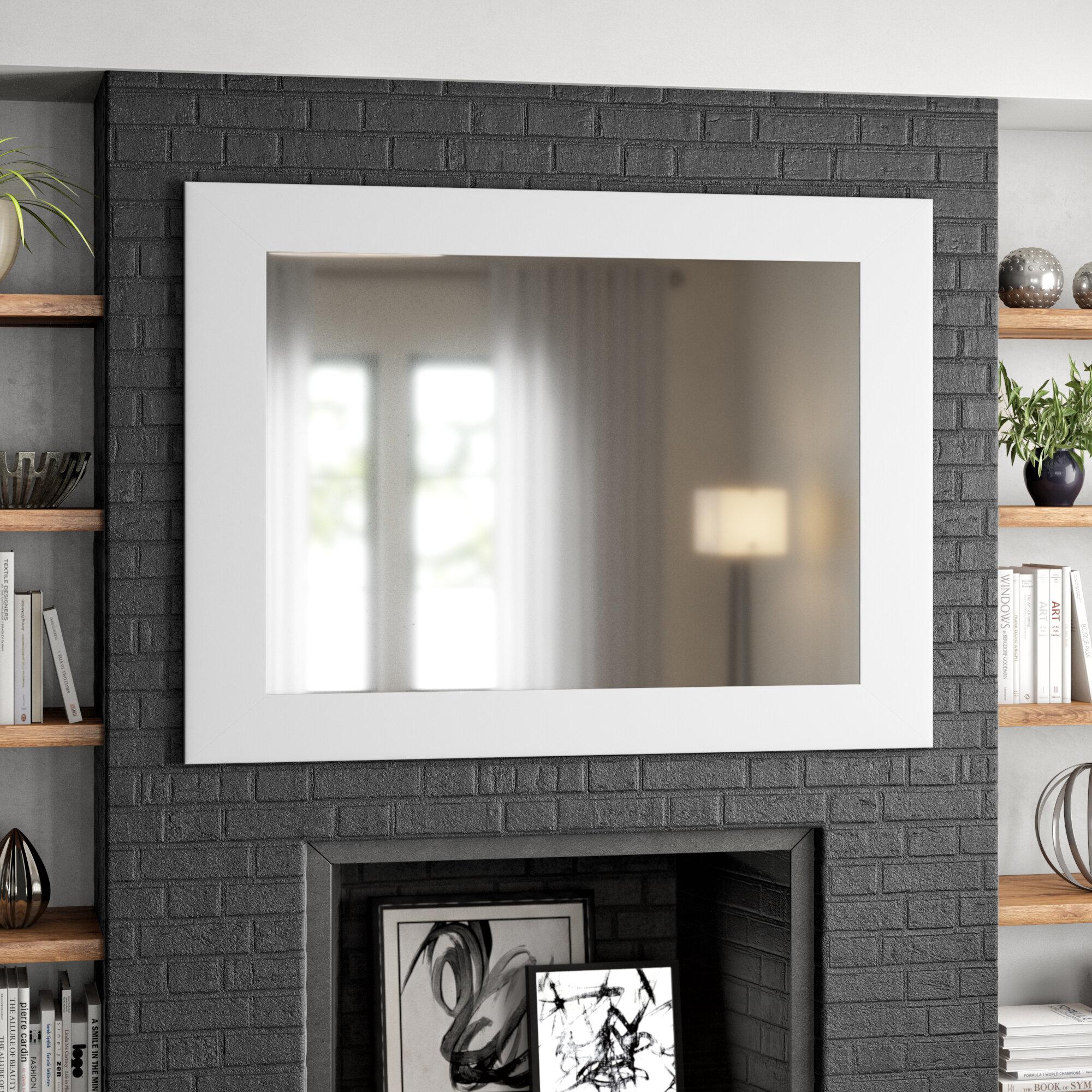 Tremblay Black and White Designer Wall Mirror