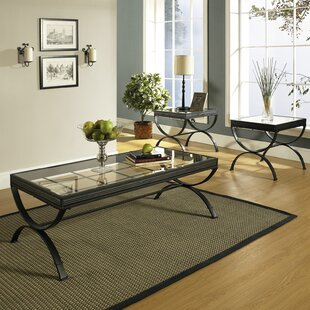 Darby Home Co Cafferata 3 Piece Coffee Table Set