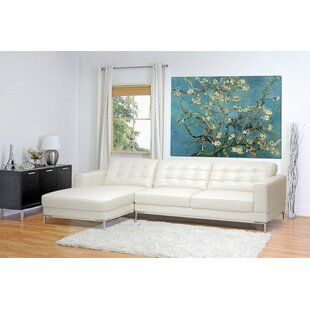 Reams Leather Sectional Orren Ellis