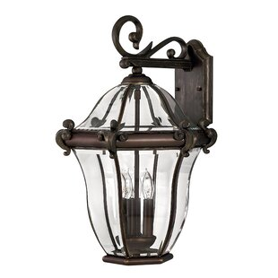 Check Prices San Clemente 3-Light Outdoor Wall Lantern By Hinkley Lighting