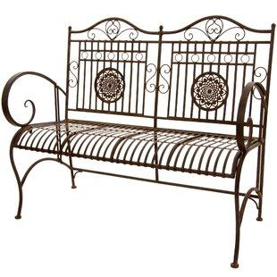 Rustic Metal Garden Bench