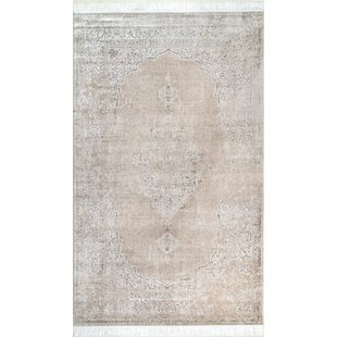 Cepeda Beige Area Rug by Bungalow Rose