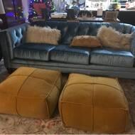 Prime Byers Square Cotton Velvet Pouf Ottoman Andrewgaddart Wooden Chair Designs For Living Room Andrewgaddartcom