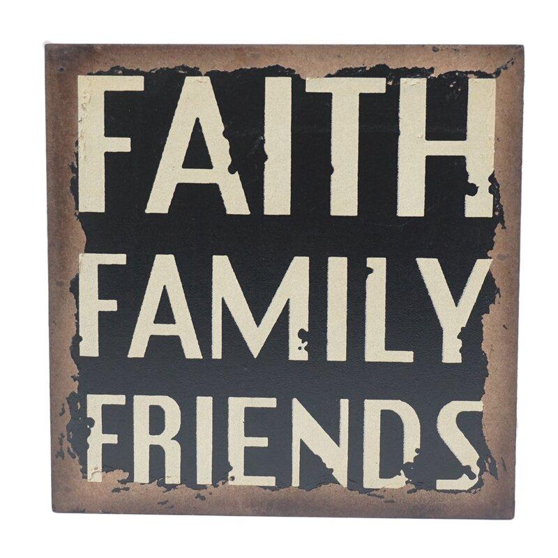 """""""Faith"""" Wood Wall Décor"""