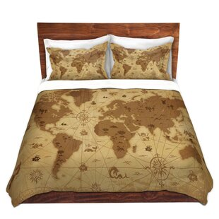 whimsical world map i duvet set