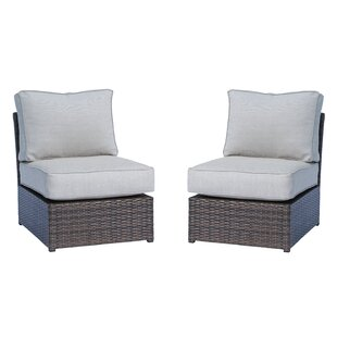 Saint-Louis Armless 2 Piece Chair (Set of 2)