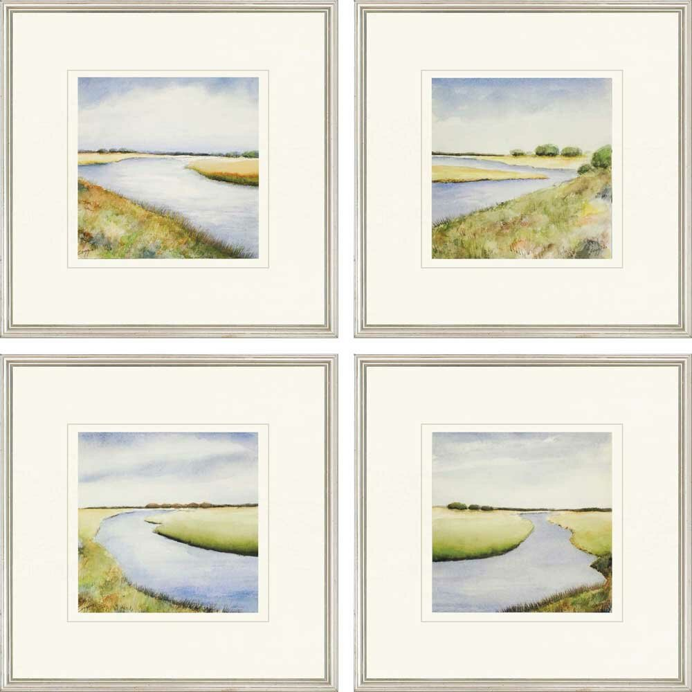 Paragon Marsh Giclee By Coggins 4 Piece Picture Frame Painting Print Set On Paper Perigold