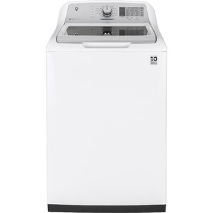 Stainless Steel 5 cu. ft. High Efficiency Top Load Washer by GE Appliances