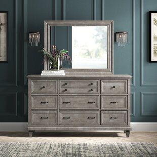 Altenburg 9 Drawer Dresser with Mirror