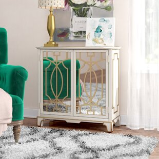 House of Hampton Carlene Traditional Mirrored 2 Doors Accent Chest