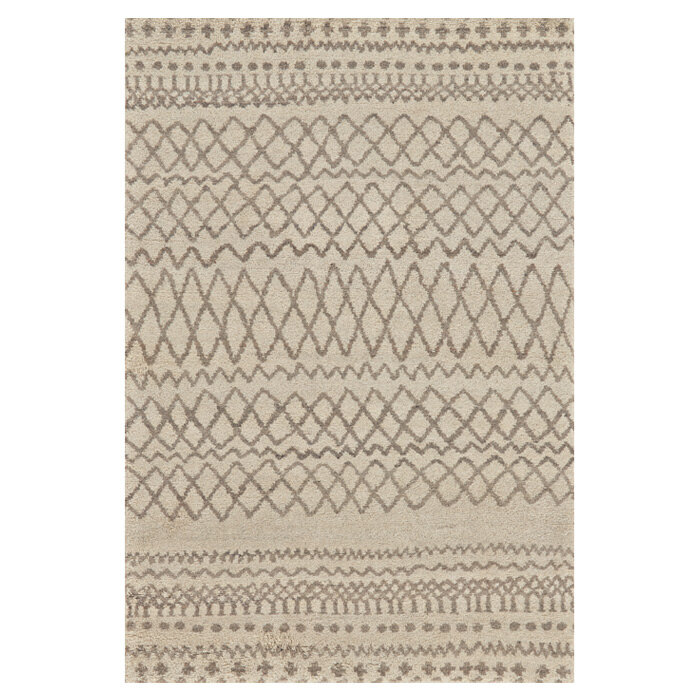 Feizy Geometric Hand Knotted Wool Cotton Natural Area Rug Perigold