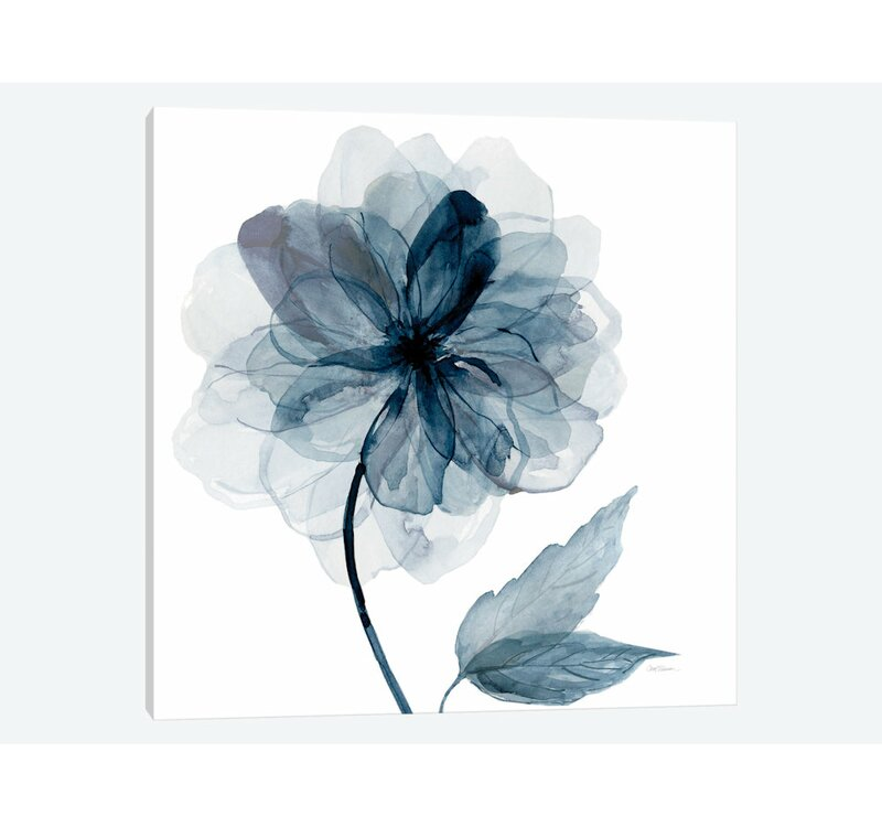 East Urban Home Indigo Bloom I Graphic Art Print On Wrapped Canvas Reviews Wayfair