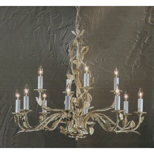 Candle Style 12-Light Candle Style Chandelier by Classic Lighting