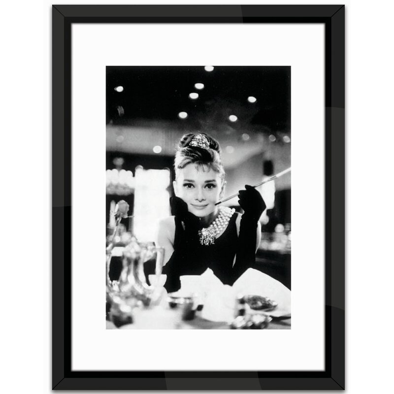 Brookpace Fine Art Audrey Hepburn Framed Photographic Print ...