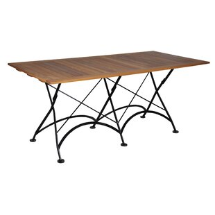 European Caf? Folding Wood Dining Table b..