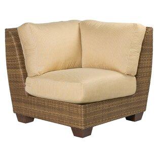 Woodard Saddleback Corner Patio Chair with Cushions