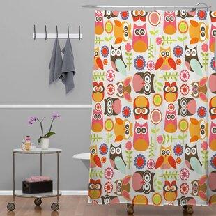 Cute Little Owls Single Shower Curtain