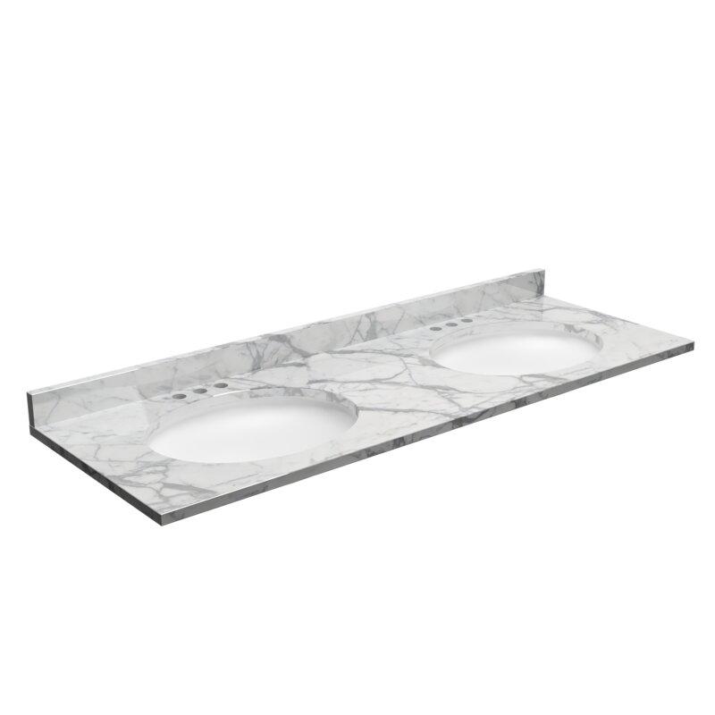 Cnc Cabinetry 61 Granite Double Bathroom Vanity Top Reviews Wayfair