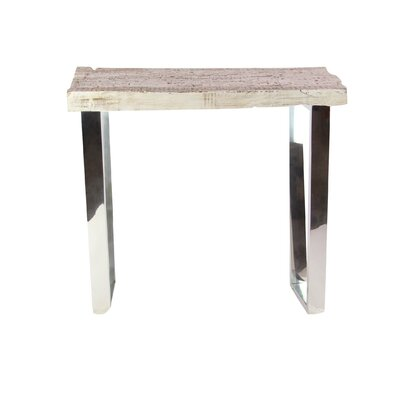 Brayden Studio Keystone End Table Brayden Studio Table Base Color Chrome Table Top Color Natural From Wayfair North America Daily Mail
