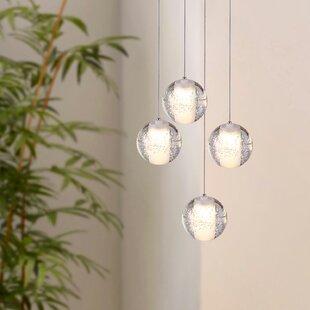 Veroniza 4-Light LED Cluster Pendant by Wrought Studio