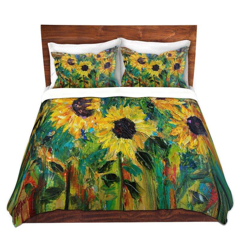 East Urban Home Sunflower Sunshine Duvet Cover Set Wayfair