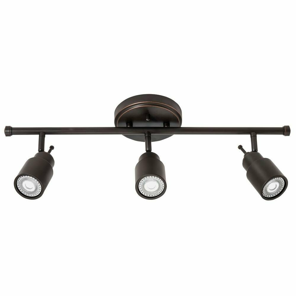 Lithonia Lighting Cylinder Glass 1-Light Oil-Rubbed Bronze Track Lighting Head
