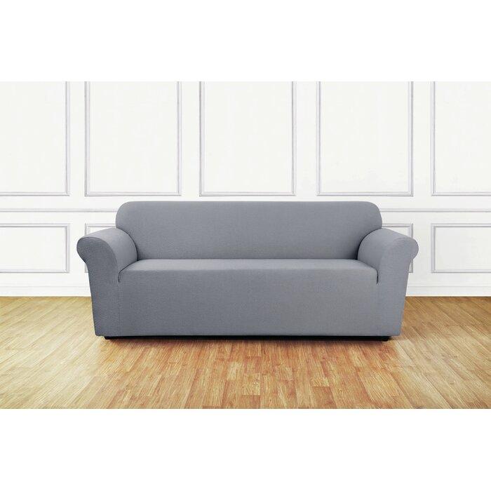 Astounding Stretch Delicate Leaf Box Cushion Sofa Slipcover Beatyapartments Chair Design Images Beatyapartmentscom