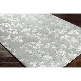 Silvera Hand-Knotted Wool White Area Rug By Alcott Hill
