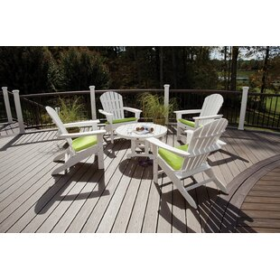 Trex Outdoor Trex Cape Cod Adirondack Sunbrella Seating Group with Cushions