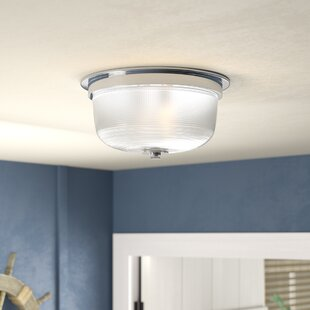 Beachcrest Home Gotha 2-Light Semi Flush Mount