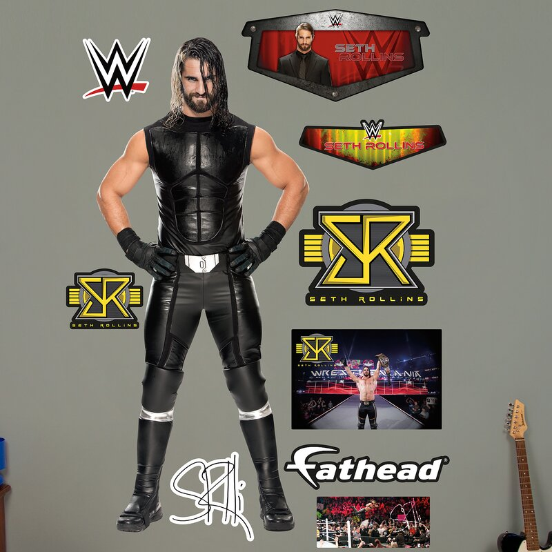 WWE Seth Rollins Peel And Stick Wall Decal