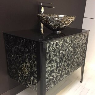 Calloway Glass 35.5 Single Bathroom Vanity By Orren Ellis