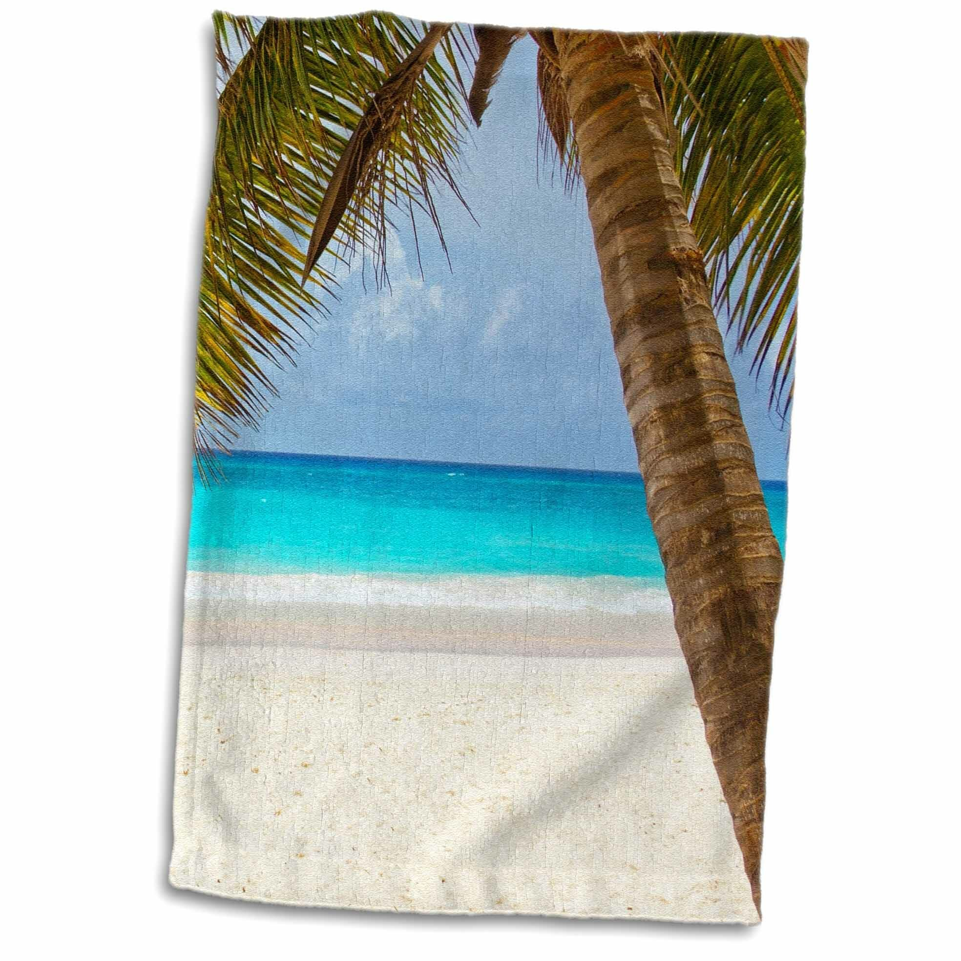 Hinson Holiday and Travel Ocean Sea Life Palm Tree Nature Tea Towel