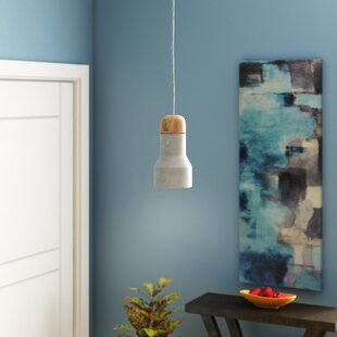 Best Reviews Marco 1-Light Bell Pendant By Langley Street