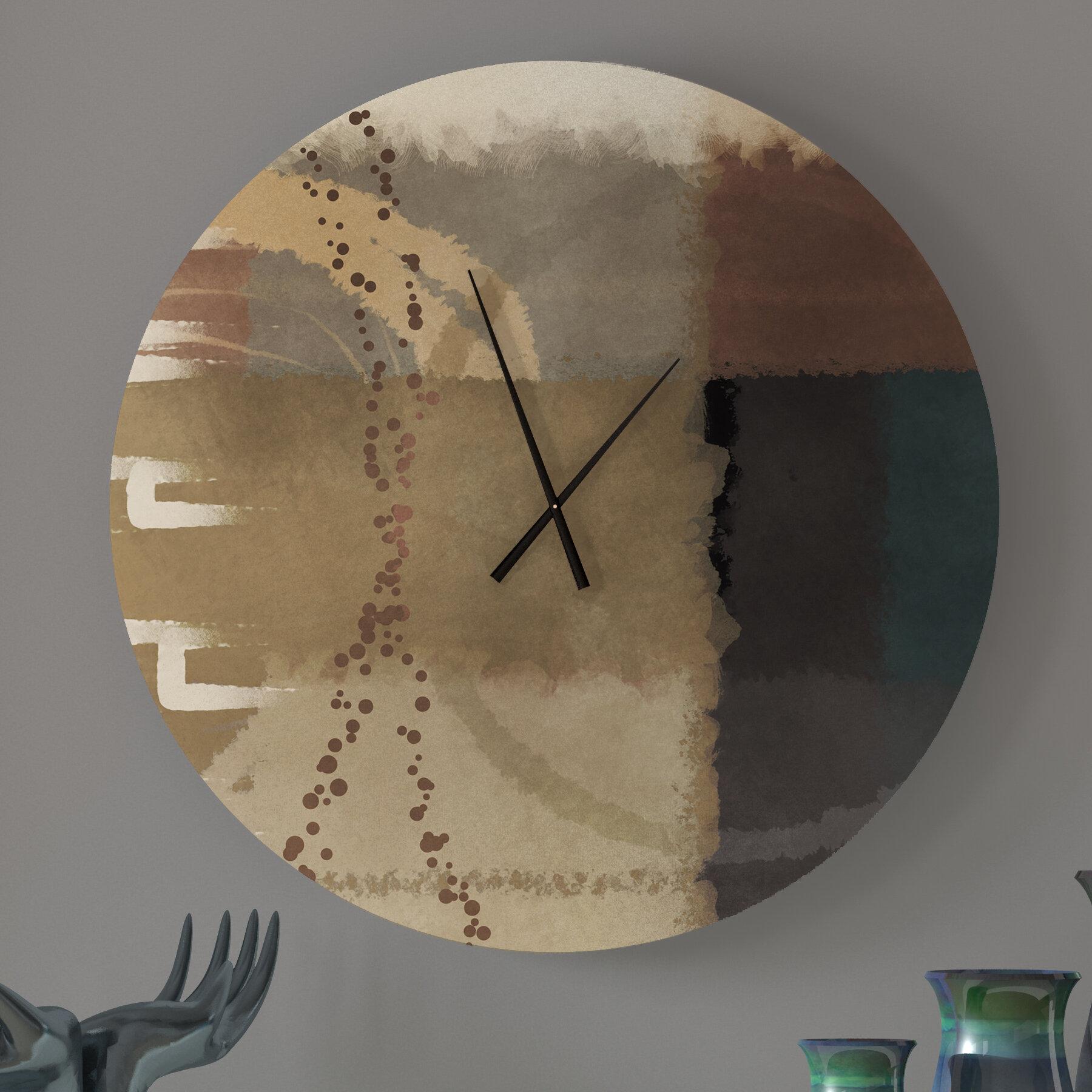 Latitude Run Favorite Humane Abstract Metal Wall Clock Wayfair