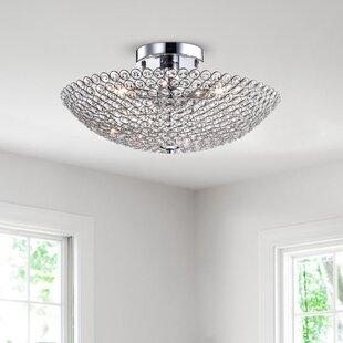 Brushwood 3-Light Semi Flush Mount by Rosdorf Park