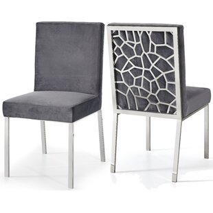 Everly Quinn Hop Upholstered Dining Chair (Set of 2)