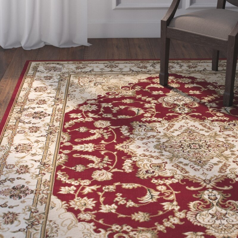 Lovely Arison High End Ultra Dense Woven Red Area Rug