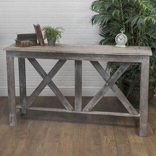 Farmhouse Wood Console Table