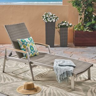 Vanhorn Outdoor Reclining Chaise Lounge by Ebern Designs