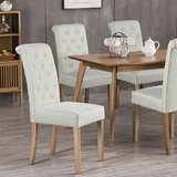Beacan Tufted Parsons Chair in Beige (Set of 2) by Red Barrel Studio®